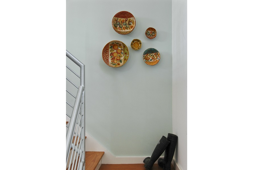 decorative plates hung with display buddies