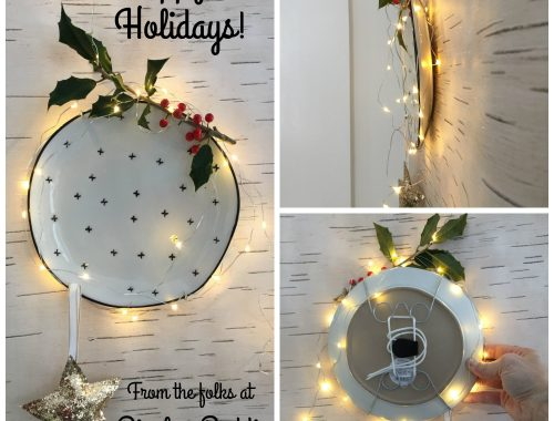 Holiday wall hanging system by Display Buddie